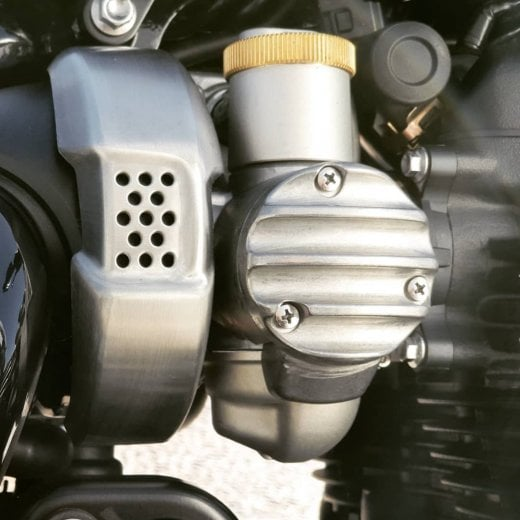 Motone Throttle Body Side Covers - Ribbed - Raw Finish